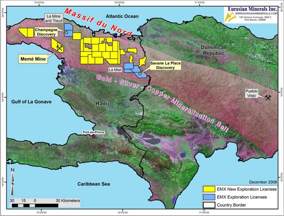 Haiti Natural Resources Map